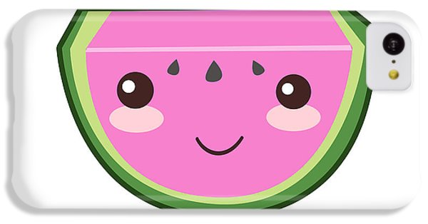 Cute Watermelon Illustration IPhone 5c Case by Pati Photography