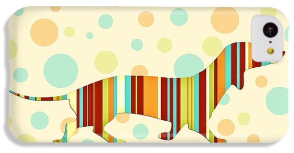 Dachshund Fun Colorful Abstract IPhone 5c Case by Natalie Kinnear