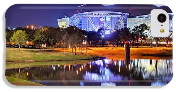 Dallas Cowboys Stadium At Night Att Arlington Texas Panoramic Photo IPhone 5c Case by Jon Holiday