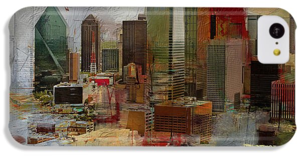 Dallas Skyline 003 IPhone 5c Case by Corporate Art Task Force