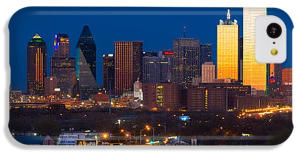 Dallas Skyline Panorama IPhone 5c Case by Inge Johnsson