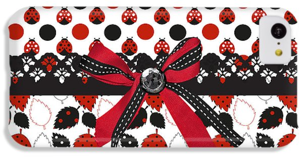 Dazzling Ladybugs  IPhone 5c Case by Debra  Miller