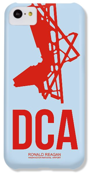 Dca Washington Airport Poster 2 IPhone 5c Case by Naxart Studio