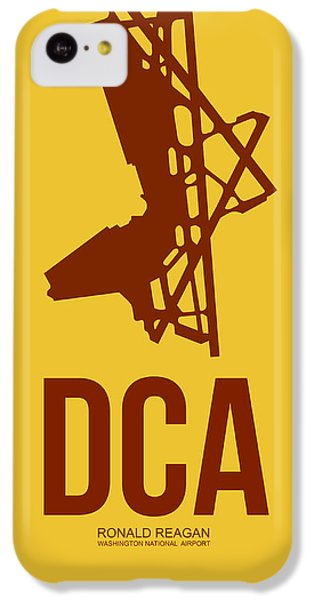 Dca Washington Airport Poster 3 IPhone 5c Case by Naxart Studio