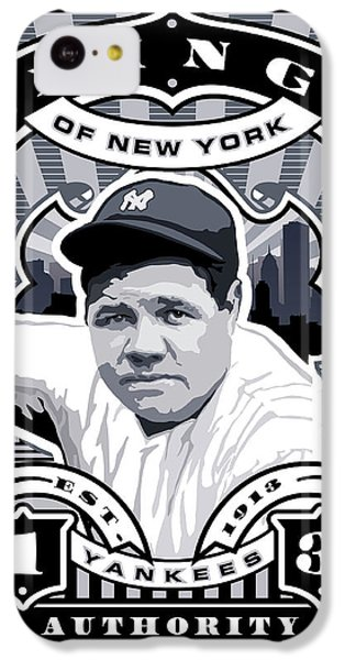 Dcla Babe Ruth Kings Of New York Stamp Artwork IPhone 5c Case by David Cook Los Angeles