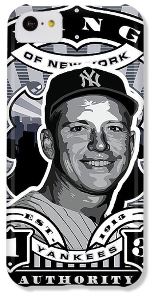 Dcla Mickey Mantle Kings Of New York Stamp Artwork IPhone 5c Case by David Cook Los Angeles