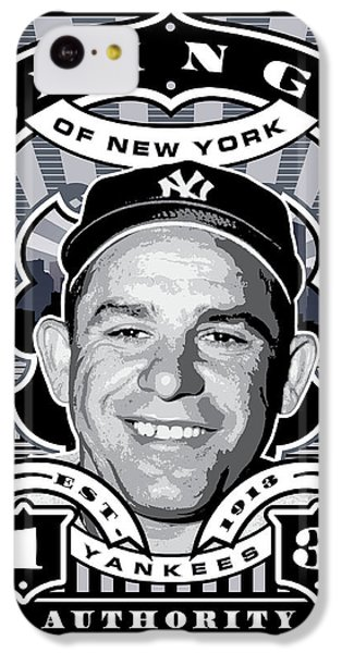 Dcla Yogi Berra Kings Of New York Stamp Artwork IPhone 5c Case by David Cook Los Angeles