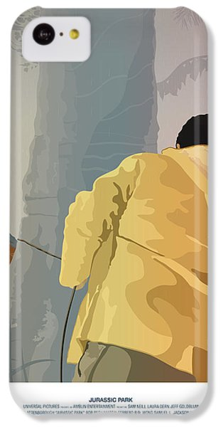 Dennis And The Dilophosaurus - Jurassic Park Poster IPhone 5c Case by Peter Cassidy