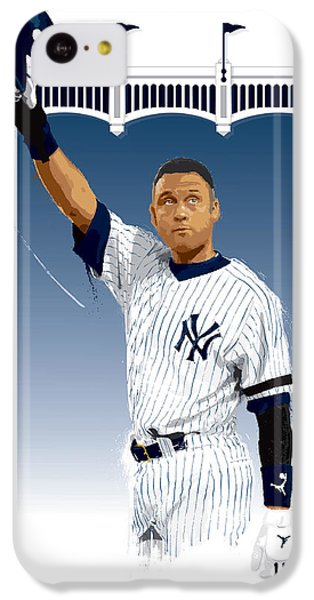 Derek Jeter 3000 Hits IPhone 5c Case by Scott Weigner