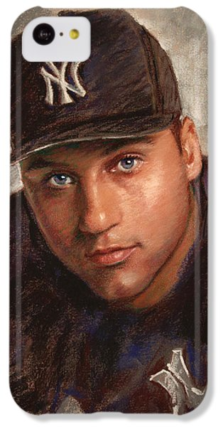 Derek Jeter IPhone 5c Case by Viola El