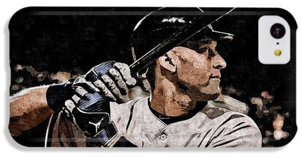 Derek Jeter On Canvas IPhone 5c Case by Florian Rodarte
