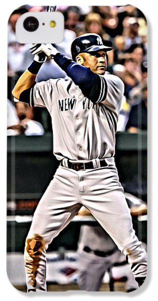 Derek Jeter Painting IPhone 5c Case by Florian Rodarte
