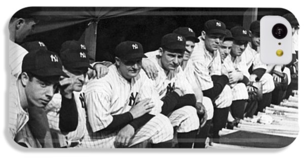 Dimaggio In Yankee Dugout IPhone 5c Case by Underwood Archives