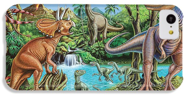 Dinosaur Waterfall IPhone 5c Case by Mark Gregory
