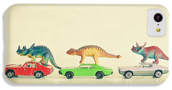 Dinosaurs Ride Cars IPhone 5c Case by Cassia Beck