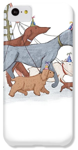Dog Walker IPhone 5c Case by Christy Beckwith