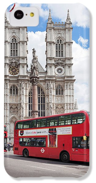 Double-decker Buses Passing IPhone 5c Case by Panoramic Images