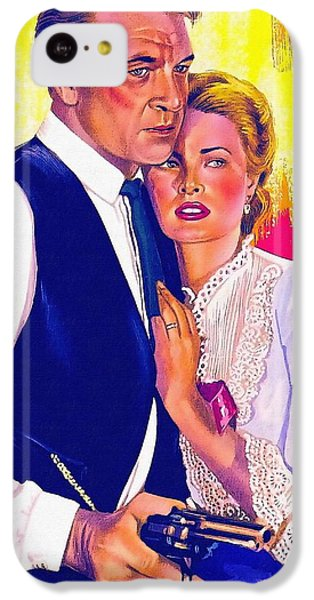 Drawing Of High Noon IPhone 5c Case by Art Cinema Gallery