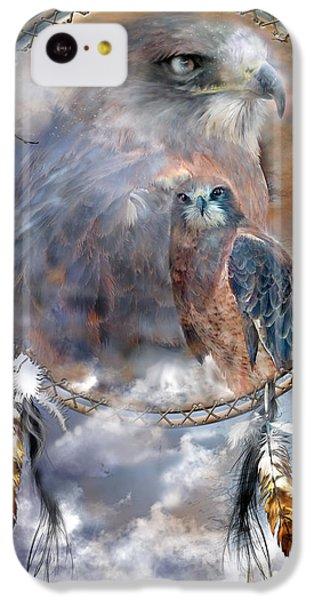 Dream Catcher - Hawk Spirit IPhone 5c Case by Carol Cavalaris