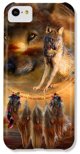 Dream Catcher - Wolfland IPhone 5c Case by Carol Cavalaris