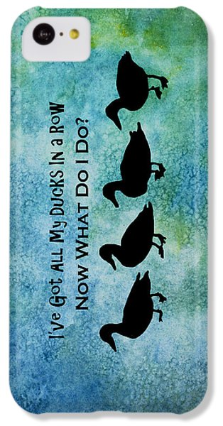 Ducks In A Row IPhone 5c Case by Jenny Armitage