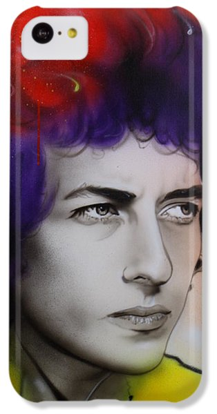 Bob Dylan - ' Dylan ' IPhone 5c Case by Christian Chapman Art