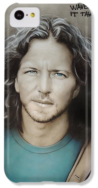 ' Eddie Vedder ' IPhone 5c Case by Christian Chapman Art