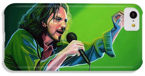 Eddie Vedder Of Pearl Jam IPhone 5c Case by Paul Meijering