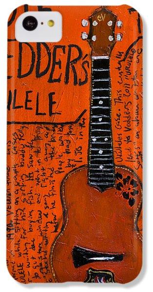 Eddie Vedder Ukulele IPhone 5c Case by Karl Haglund