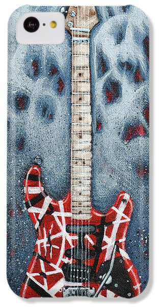 Eddie's Frankenstrat IPhone 5c Case by Arturo Vilmenay