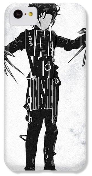 Edward Scissorhands - Johnny Depp IPhone 5c Case by Ayse Deniz
