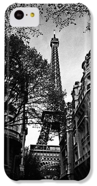 Eiffel Tower Black And White IPhone 5c Case by Andrew Fare