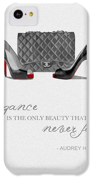 Elegance Never Fades Black And White IPhone 5c Case by Rebecca Jenkins