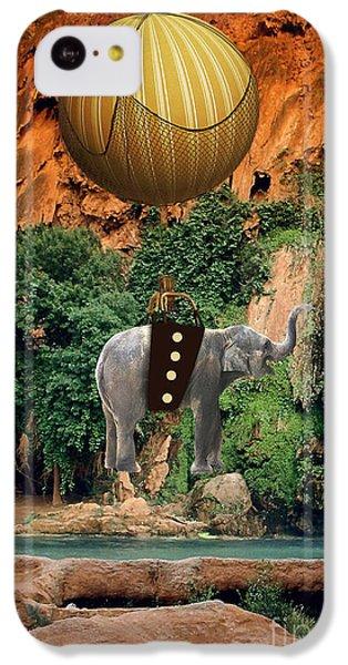 Elephant Flight IPhone 5c Case by Marvin Blaine