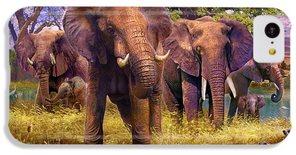 Elephants IPhone 5c Case by Jan Patrik Krasny
