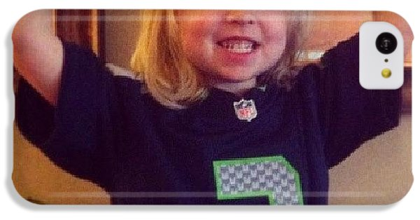 Seahawks iPhone 5C Cases - Ella Loves Her Wussell Wilson #seahawks iPhone 5C Case by Nathan  Brend