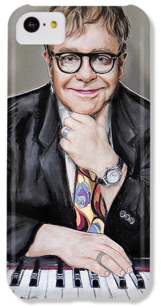 Elton John IPhone 5c Case by Melanie D