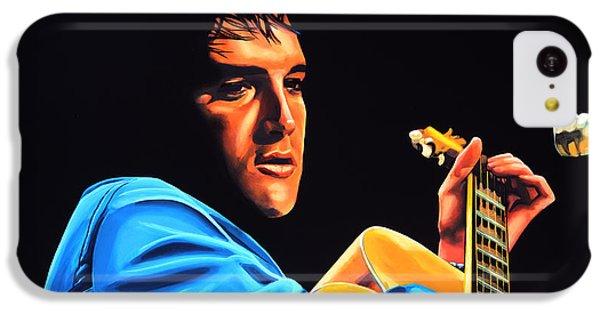 Elvis Presley 2 Painting IPhone 5c Case by Paul Meijering