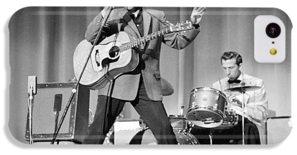 Elvis Presley And D.j. Fontana Performing In 1956 IPhone 5c Case by The Harrington Collection