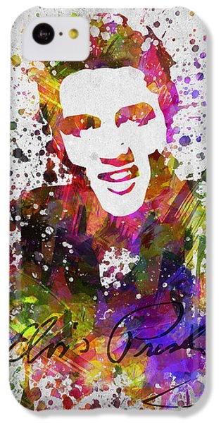 Elvis Presley In Color IPhone 5c Case by Aged Pixel