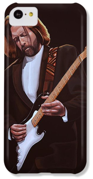 Eric Clapton Painting IPhone 5c Case by Paul Meijering