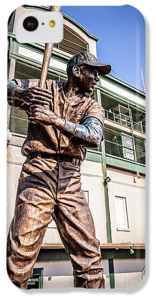 Ernie Banks Statue At Wrigley Field  IPhone 5c Case by Paul Velgos