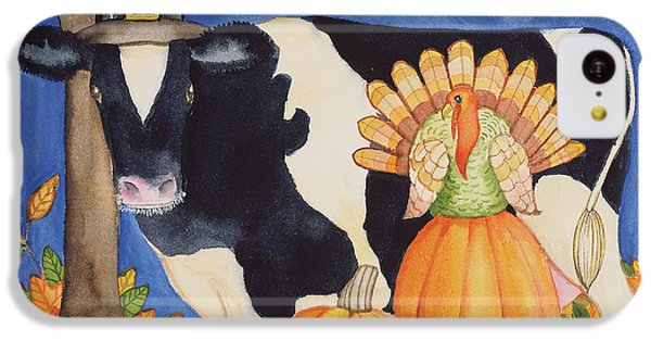 Fall Cow IPhone 5c Case by Kathleen Parr Mckenna