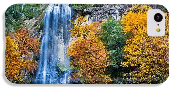 Fall Silver Falls IPhone 5c Case by Robert Bynum