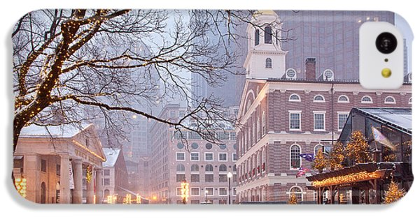 Faneuil Hall In Snow IPhone 5c Case by Susan Cole Kelly