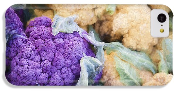 Farmers Market Purple Cauliflower IPhone 5c Case by Carol Leigh