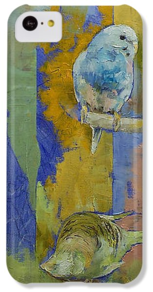 Feng Shui Parakeets IPhone 5c Case by Michael Creese