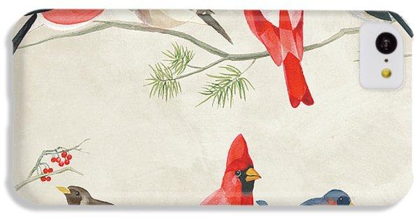 Festive Birds I IPhone 5c Case by Danhui Nai