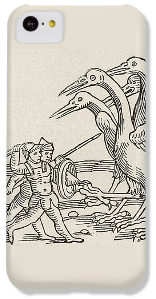 Fight Between Pygmies And Cranes. A Story From Greek Mythology IPhone 5c Case by English School