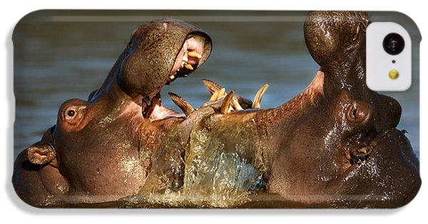 Fighting Hippo's IPhone 5c Case by Johan Swanepoel